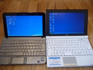 HP Mini 2140とSOTEC C1との比較