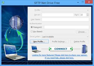 SFTP Net Driveを起動したところ