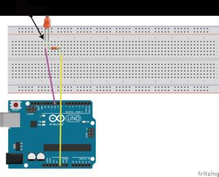 ArduinoとLEDとの接続