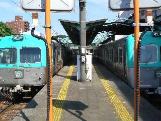 中央前橋駅に停車中の電車